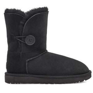 UGG Short Bailey Side Button Black Boot 5803